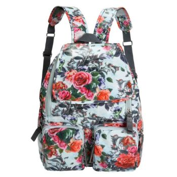 Oilskin Backpack – Light Floral